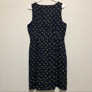 J. Crew Dresses - NWT | J Crew | Navy Yellow Floral V Neck Dress